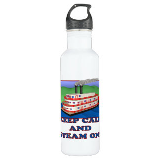 Keep Calm And Steam On 24oz Water Bottle