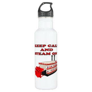 Keep Calm And Steam On 2 24oz Water Bottle