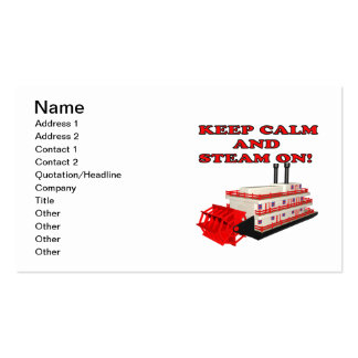 Keep Calm And Steam On 2 Double-Sided Standard Business Cards (Pack Of 100)