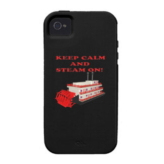 Keep Calm And Steam On 2 Case-Mate iPhone 4 Case
