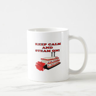 Keep Calm And Steam On 2 Classic White Coffee Mug