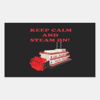 Keep Calm And Steam On 2 Rectangular Sticker