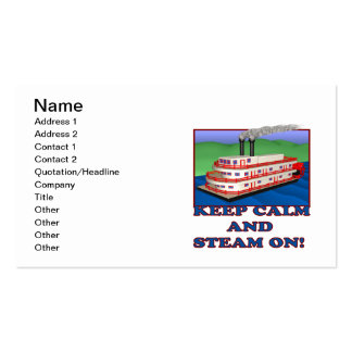 Keep Calm And Steam On Double-Sided Standard Business Cards (Pack Of 100)