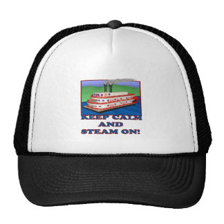 Keep Calm And Steam On Trucker Hat