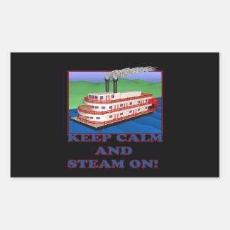 Keep Calm And Steam On Rectangular Sticker