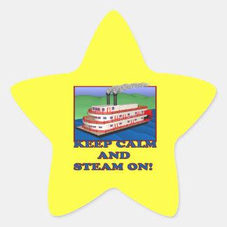 Keep Calm And Steam On Star Sticker