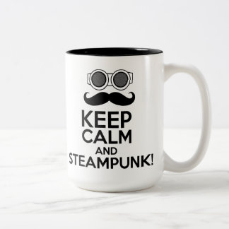 Keep Calm and Steampunk Two-Tone Coffee Mug