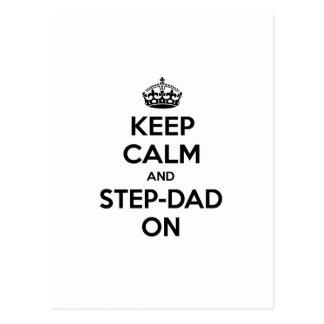 Keep Calm and Step-Dad On Postcard