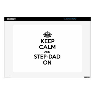 Keep Calm and Step-Dad On Laptop Decal