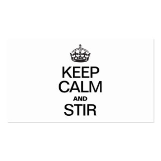 KEEP CALM AND STIR Double-Sided STANDARD BUSINESS CARDS (Pack OF 100)