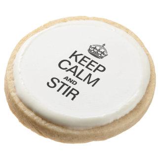 KEEP CALM AND STIR ROUND PREMIUM SHORTBREAD COOKIE