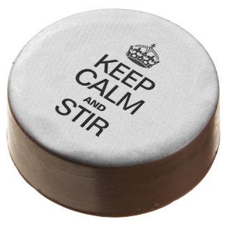 KEEP CALM AND STIR CHOCOLATE COVERED OREO