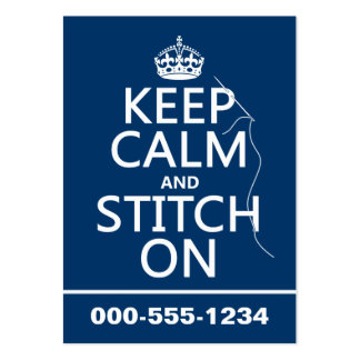 Keep Calm and Stitch On (all colors) Business Card Template