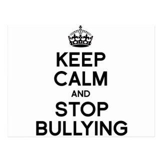 KEEP CALM AND STOP BULLYING POST CARDS