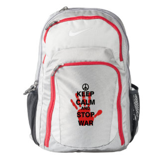 Keep Calm and Stop War Backpack