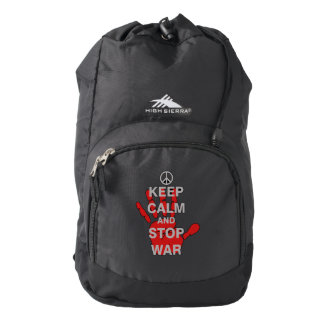Keep Calm and Stop War High Sierra Backpack
