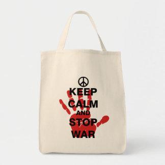 Keep Calm and Stop War Tote Bag