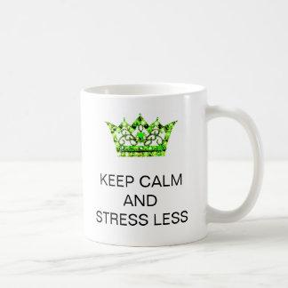 KEEP CALM AND STRESS LESS Mugs