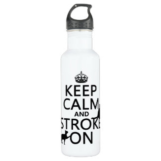 Keep Calm and Stroke On Stainless Steel Water Bottle