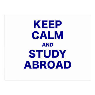 Keep Calm and Study Abroad Postcard