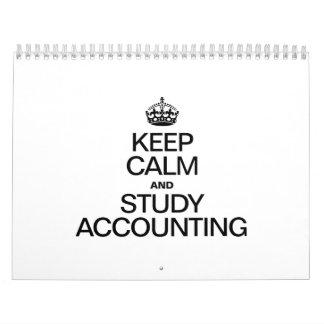 KEEP CALM AND STUDY ACCOUNTING WALL CALENDARS