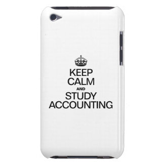 KEEP CALM AND STUDY ACCOUNTING iPod TOUCH Case-Mate CASE