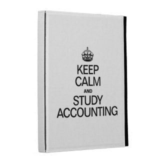KEEP CALM AND STUDY ACCOUNTING iPad FOLIO COVER