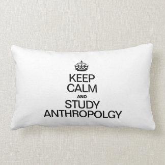 KEEP CALM AND STUDY ANTHROPOLOGY LUMBAR PILLOW