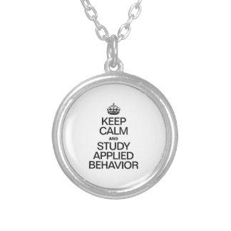 KEEP CALM AND STUDY APPLIED BEHAVIOR PENDANT