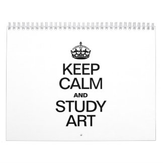 KEEP CALM AND STUDY ART WALL CALENDAR