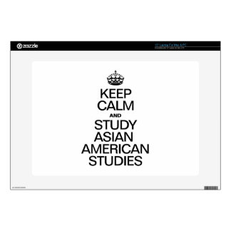 KEEP CALM AND STUDY ASIAN AMERICAN STUDIES DECAL FOR LAPTOP
