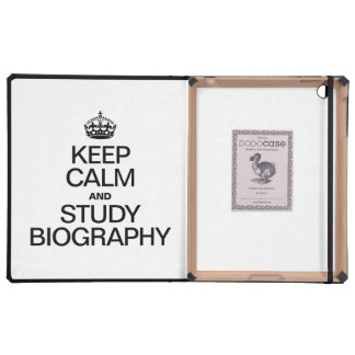 KEEP CALM AND STUDY BIOGRAPHY iPad COVERS