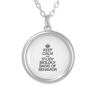 KEEP CALM AND STUDY BIOLOGY BASIS OF BEHAVIOR NECKLACES