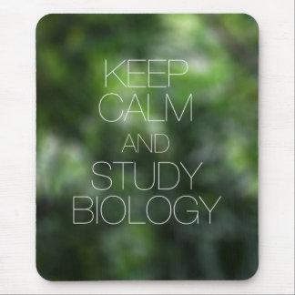 Keep Calm and Study Biology Mousepads
