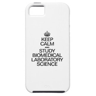 KEEP CALM AND STUDY BIOMEDICAL LABORATORY SCIENCE. iPhone SE/5/5s CASE