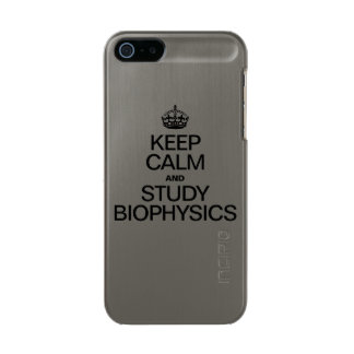 KEEP CALM AND STUDY BIOPHYSICS METALLIC iPhone SE/5/5s CASE