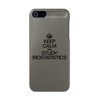 KEEP CALM AND STUDY BIOSTATISTICS METALLIC PHONE CASE FOR iPhone SE/5/5s