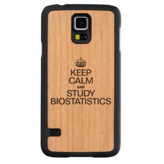 KEEP CALM AND STUDY BIOSTATISTICS CARVED® CHERRY GALAXY S5 SLIM CASE
