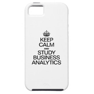 KEEP CALM AND STUDY BUSINESS ANALYTICS iPhone SE/5/5s CASE