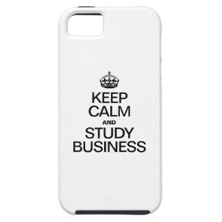 KEEP CALM AND STUDY BUSINESS iPhone SE/5/5s CASE