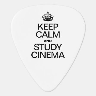 KEEP CALM AND STUDY CINEMA GUITAR PICK