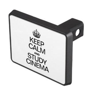 KEEP CALM AND STUDY CINEMA TRAILER HITCH COVERS