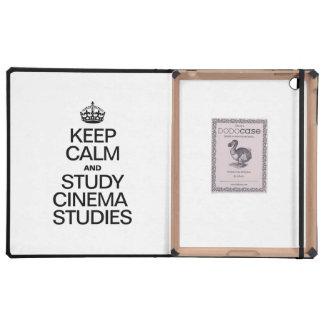 KEEP CALM AND STUDY CINEMA STUDIES iPad COVERS