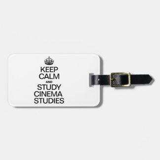 KEEP CALM AND STUDY CINEMA STUDIES TAGS FOR BAGS