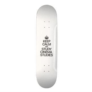 KEEP CALM AND STUDY CINEMA STUDIES CUSTOM SKATEBOARD
