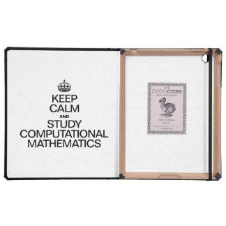 KEEP CALM AND STUDY COMPUTATIONAL MATHEMATICS CASES FOR iPad