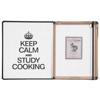 KEEP CALM AND STUDY COOKING iPad COVER