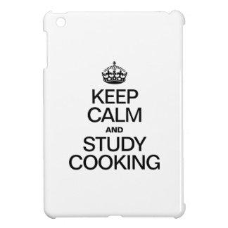 KEEP CALM AND STUDY COOKING iPad MINI COVERS