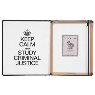 KEEP CALM AND STUDY CRIMINAL JUSTICE iPad COVERS