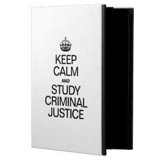 KEEP CALM AND STUDY CRIMINAL JUSTICE iPad AIR COVER